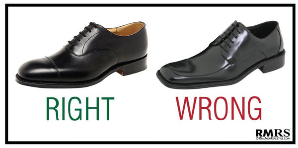 What Men Shouldn't Wear - Square Toed Shoes