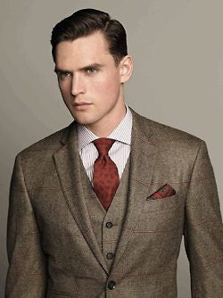Three Piece Brown Suit