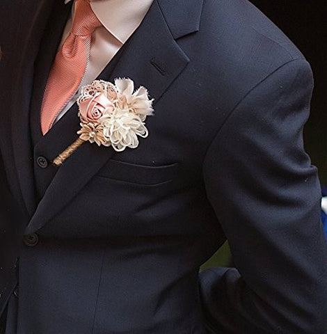 Lapel Flower Day Time Winter Wedding