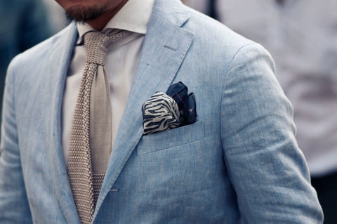 Edged Puff pocket square