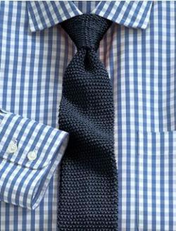 Knit Ties that Match Checkered Shirts