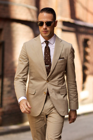 Summer Khaki Suit