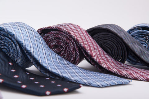 Plaid Silk Skinny Ties