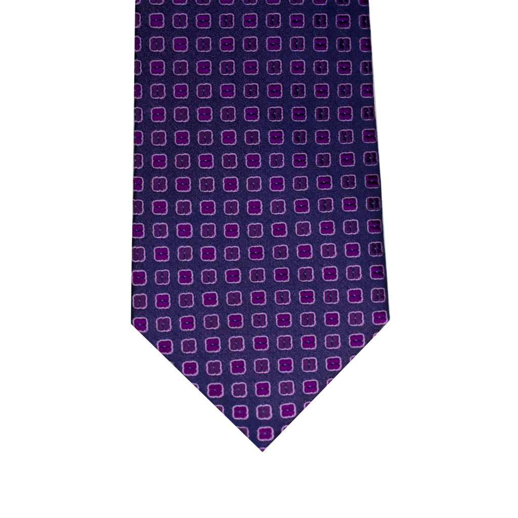 Burgundy Abstract Squares Silk Ties