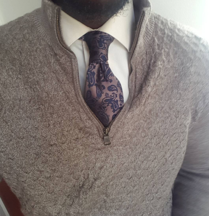 Brown / Gold Paisley Silk Tie