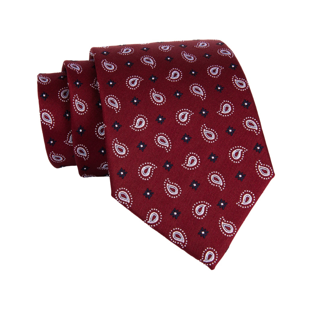 Red & Navy Paisley Silk Ties