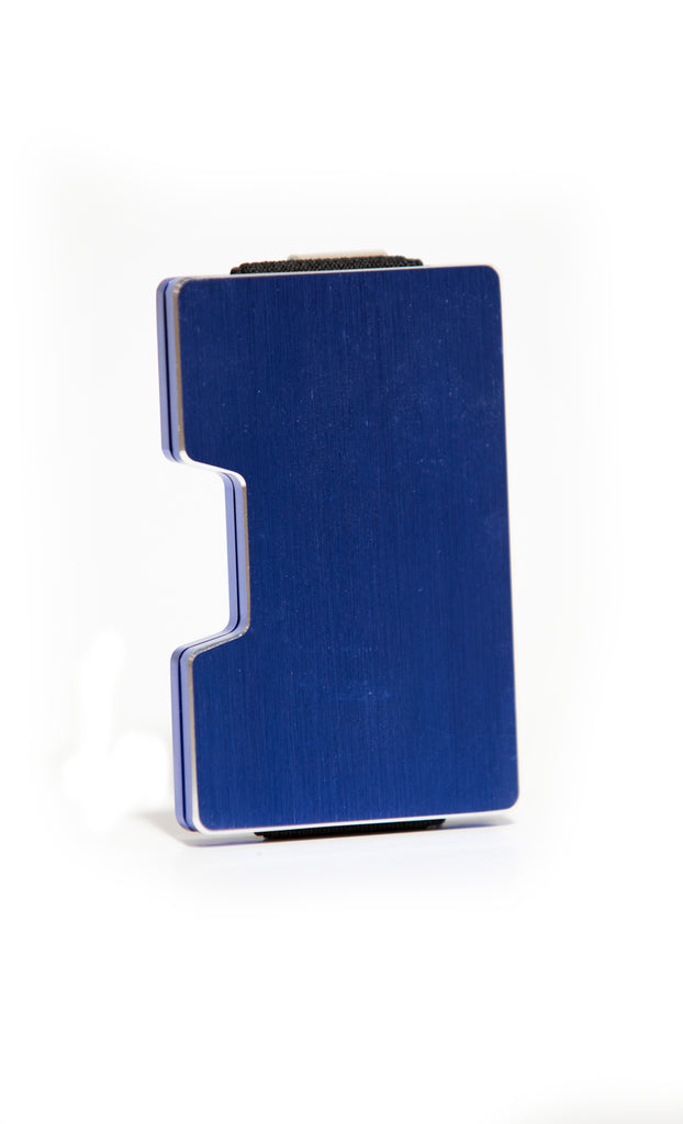 Blue minimalist wallet