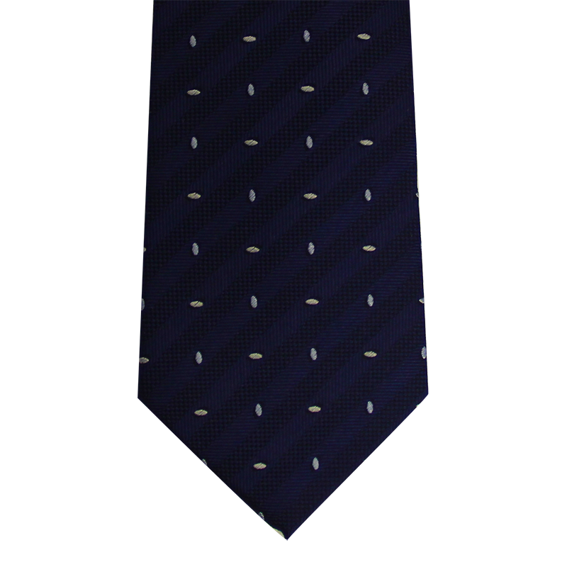 Navy Abstract Skinny Tie