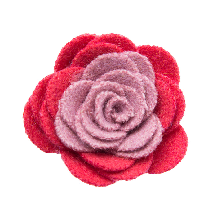 Coral and pink lapel flower
