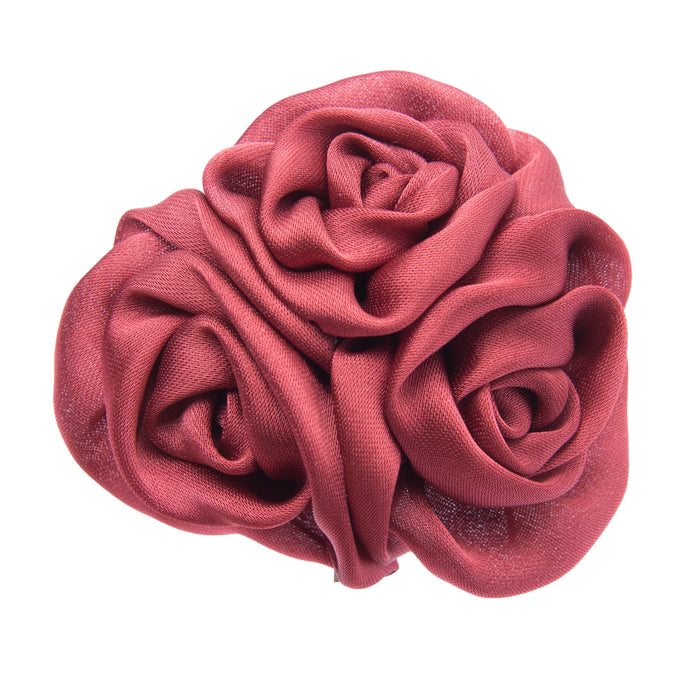 Burgundy multi flower lapel flower