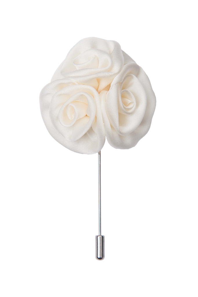 White lapel flower