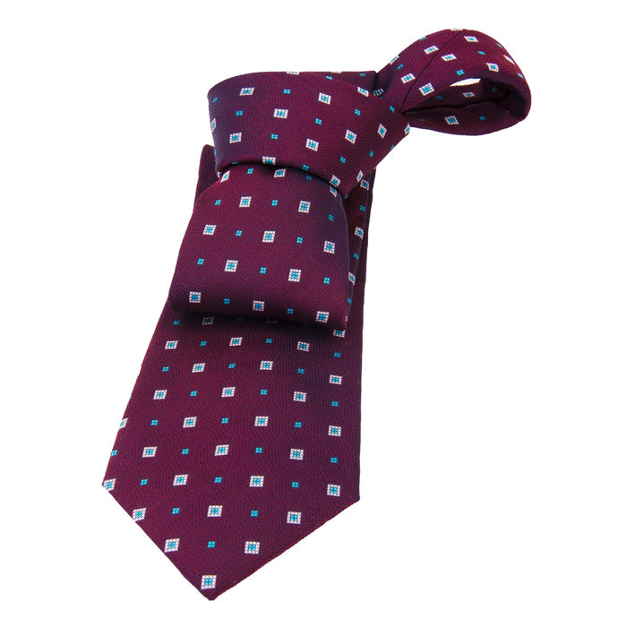 Purple & Blue Foulard Silk Tie