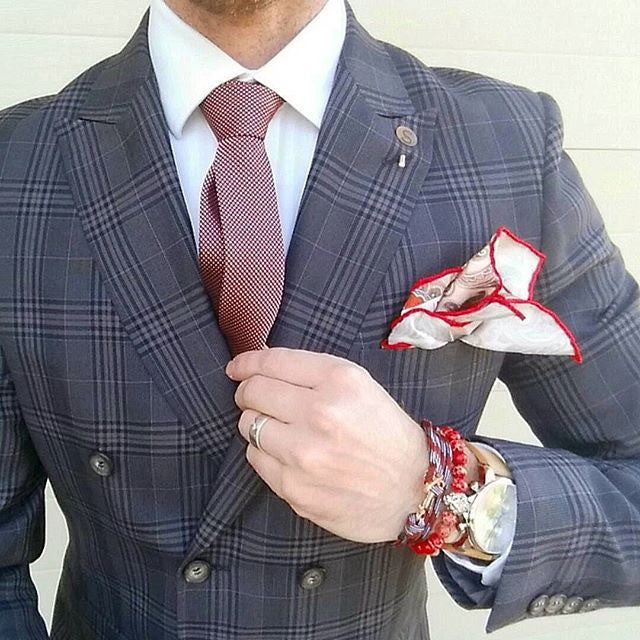 Brown and Cream Paisley Silk Pocket Square