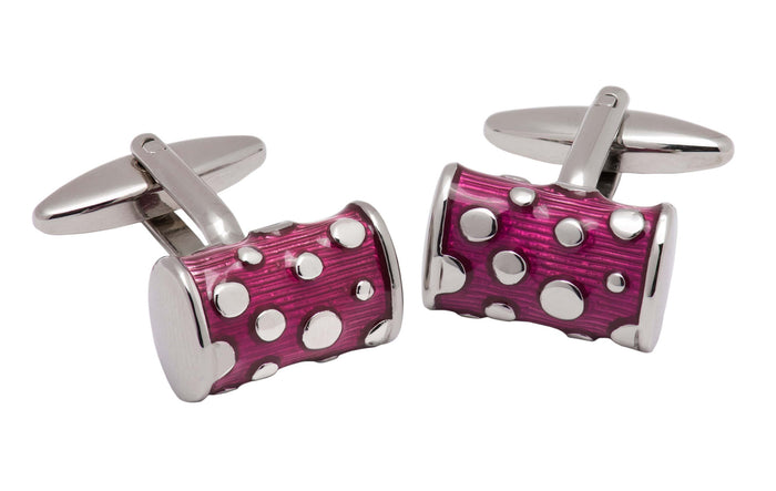Purple & Silver Enamel Cufflinks