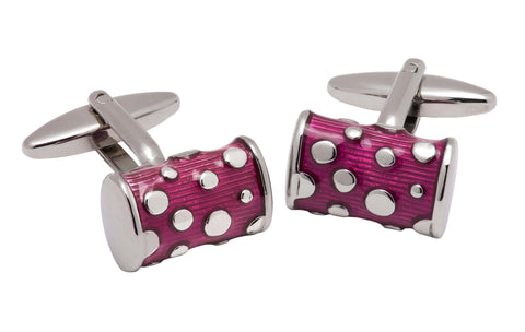 Medford Purple and Silver Rhodium Plated Cufflinks