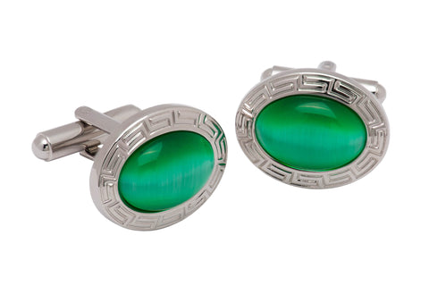 Beacon Falls Sapphire Rhodium Plated Cufflinks