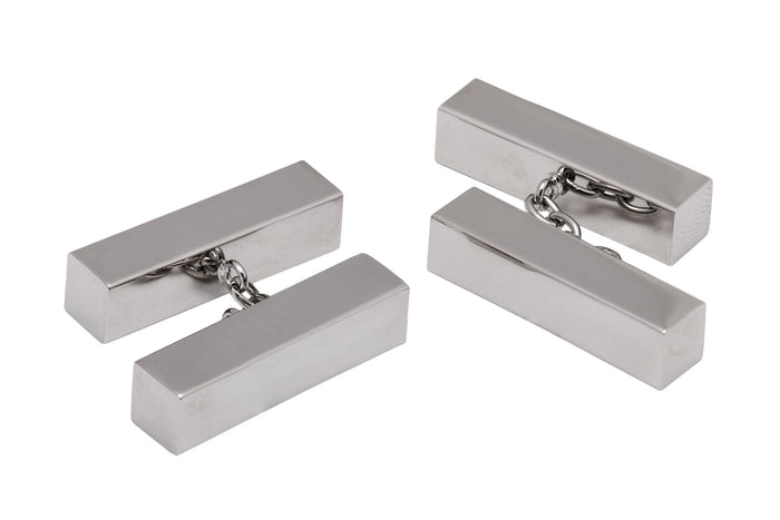 Dalton Silver Rhodium Plated Chain Cufflinks