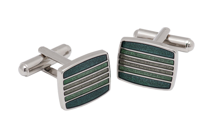 Green & Lime Stone Cufflinks