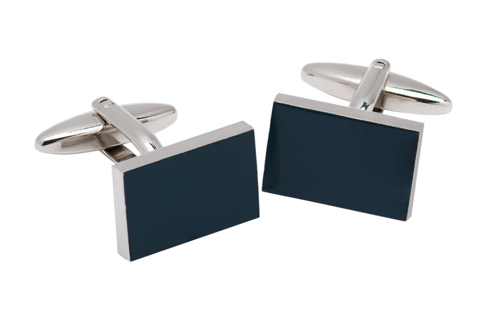 Blackish Grey Enamel Plated Cufflinks