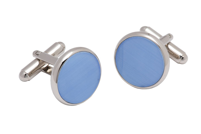 Light Blue Enamel Plated Cufflinks