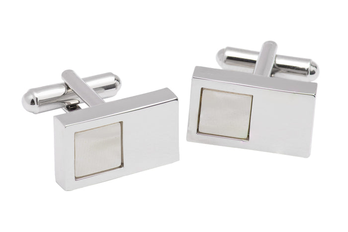 Silver Rhodium Plated Cufflinks