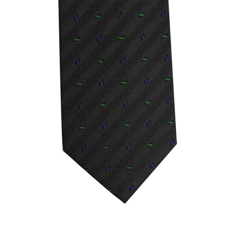 Grey Abstract Skinny Tie