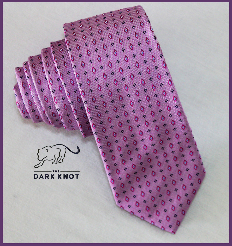 Lilac Abstract Silk Tie