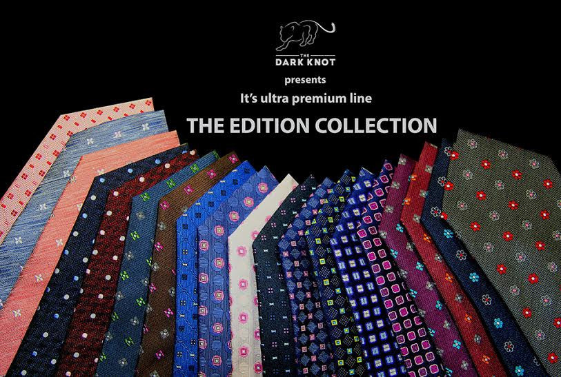 The Dark Knot Abstract Silk Ties