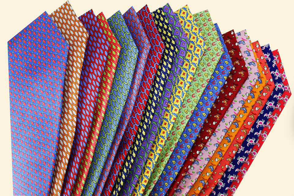 Three Ties and Three Pocket Squares Starter Kit