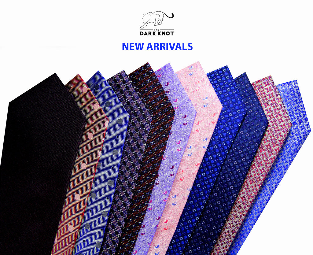 New Arrival Dark Knot Silk Ties