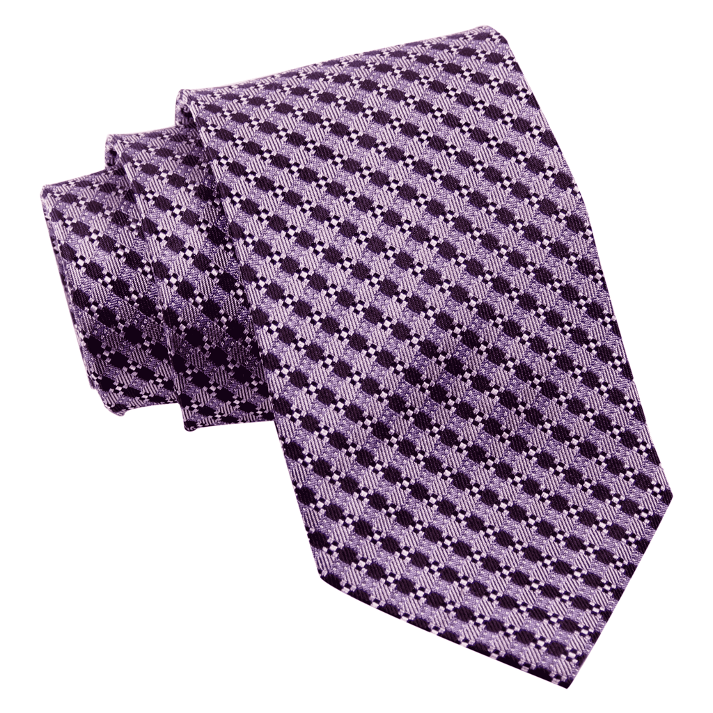 Guilford Abstract Silk Tie, Lilac / Deep Purple
