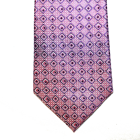 Lilac Abstract Squares Silk Tie