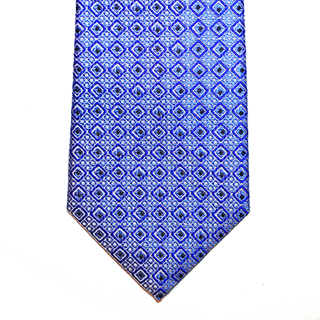Blue Abstract Squares Silk Tie