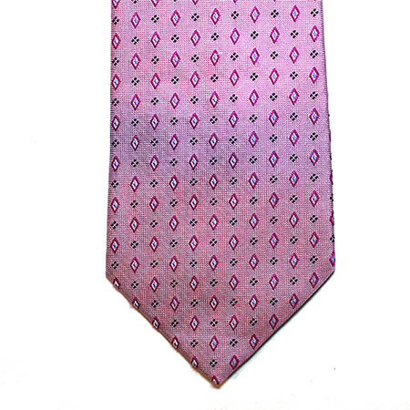 lilac and purple abstract silk tie