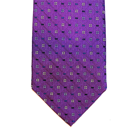 Purple Abstract Silk Tie