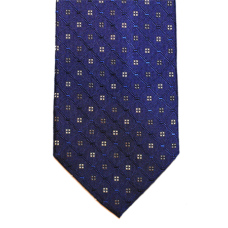 Stratford Abstract Silk Tie, Navy / Blue / Silver