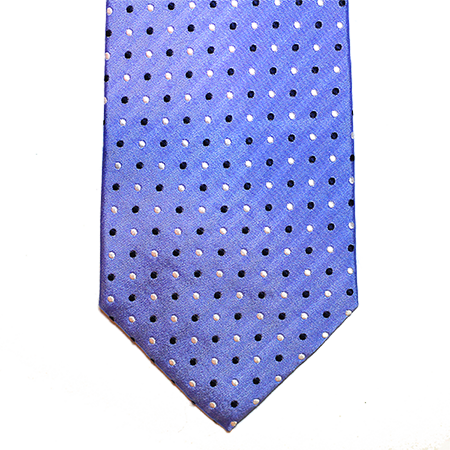Light Blue Polka Dot Silk Necktie