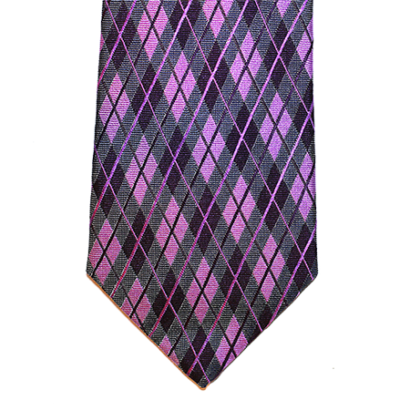 Lilac and Plaid Silk Necktie