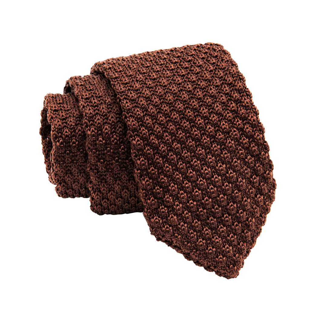 Brown Knitted Tie