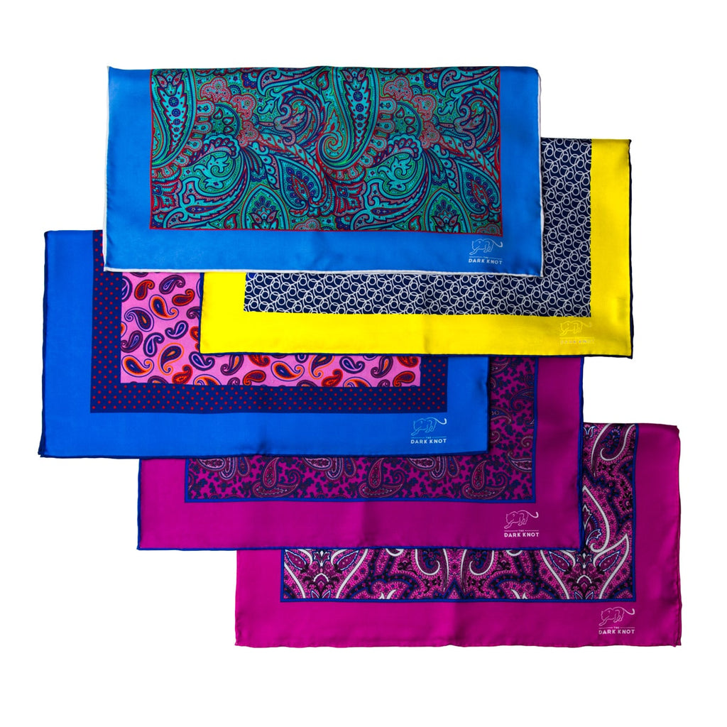 Paisley Silk Pocket Squares