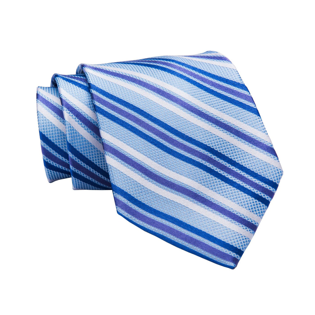 Blue & Purple Stripe Silk Tie