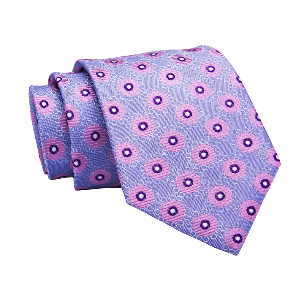 Wilmington Abstract Silk Tie, Lilac / Light Purple