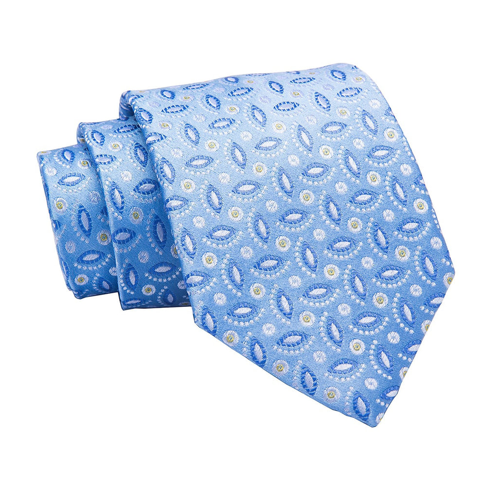 Becket Paisley Blue w/ Grey Silk Tie