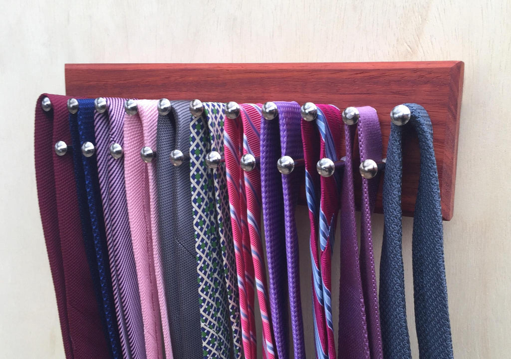 Small Tie Rack with Ties