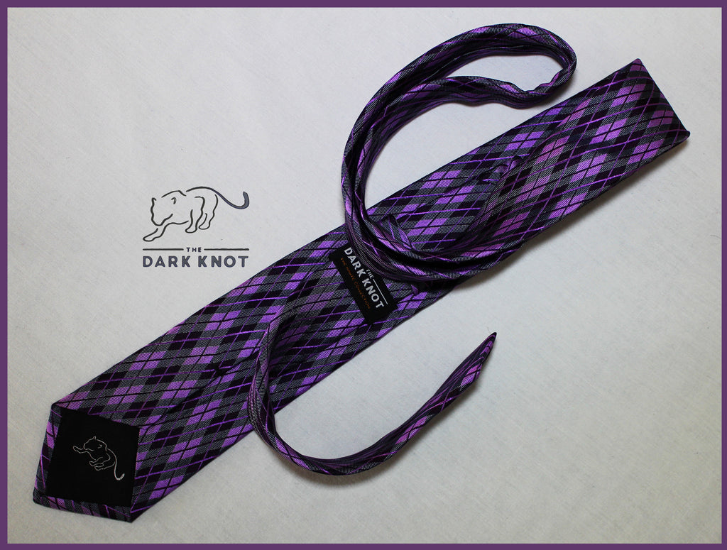 Lilac and Purple Silk Tie