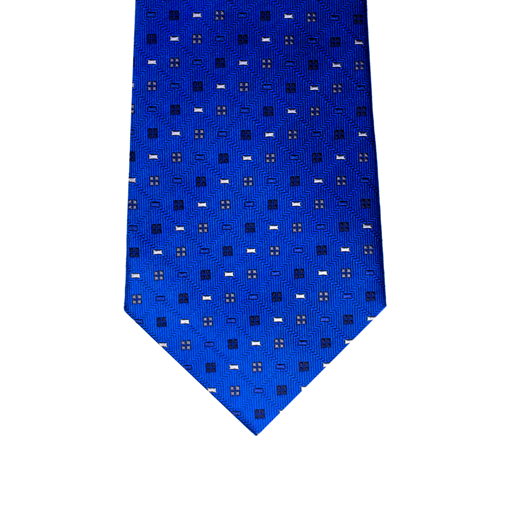 Blue abstract silk tie