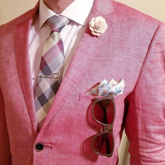 Pocket Square and Lapel Flower of the month club