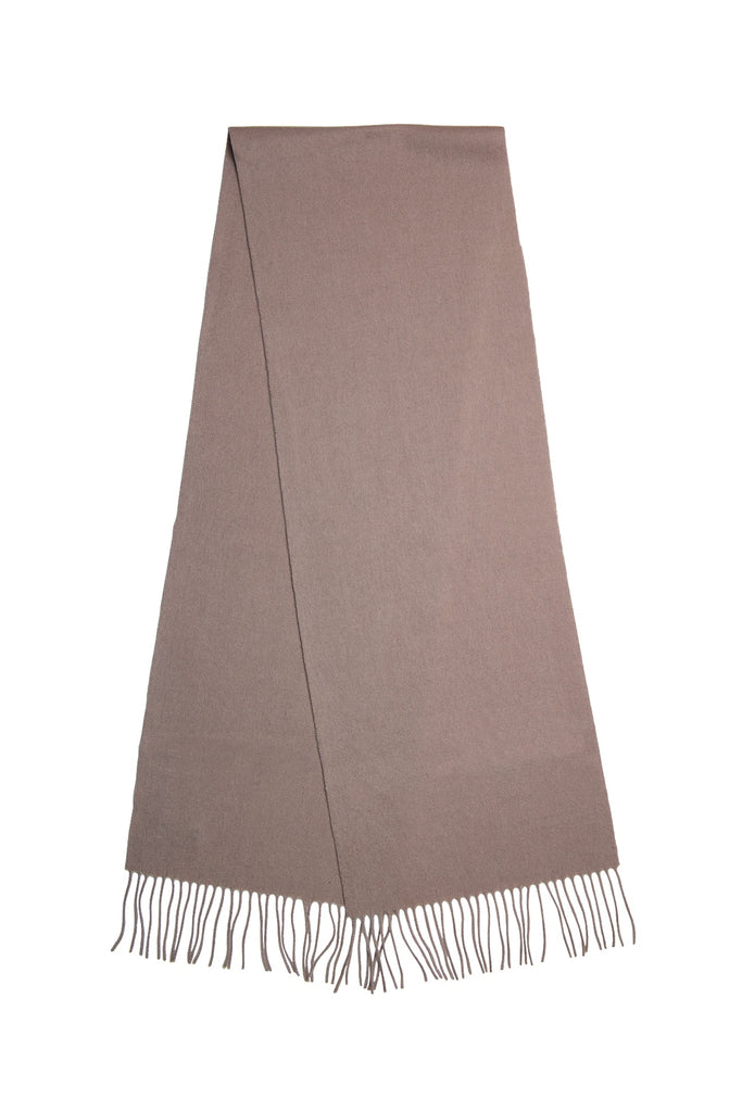 Taupe Men's Wool Scarf