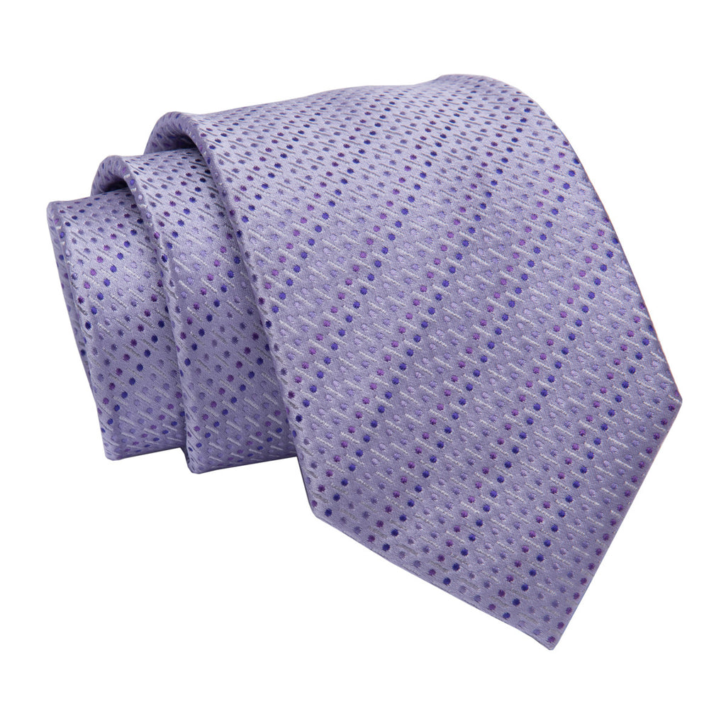 Lilac Pin Dot Silk Tie