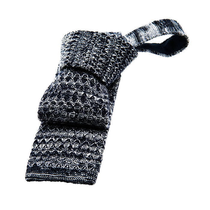 Grey Wool Knitted Tie